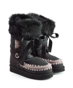 Mou | Lace Front Sheepskin Boots With Fur Cuff Gr. Eu 36