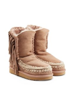 Mou | Eskimo Short Sheepskin Boots With Fringe Gr. Eu 36