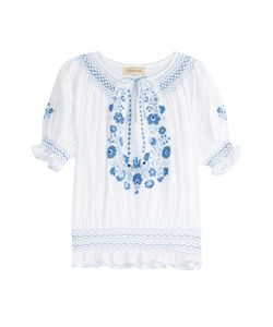 Muzungu Sisters | Embroidered Cotton Peasant Top Gr. S
