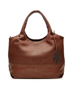 Henry Beguelin | Leather Tote With Woven Panel Gr. One Size