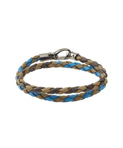 Tods   Braided Leather Bracelet Gr. One Size