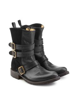 Fiorentini & Baker | Leather And Suede Boots Gr. It 39