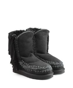 Mou | Eskimo Short Sheepskin Boots With Fringe Gr. Eu 37
