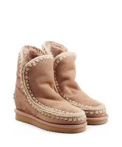 Mou | Eskimo Wedge Short Sheepskin Boots With Embroidery Gr. Eu 36
