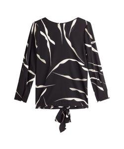 Diane von Furstenberg   Printed Silk Top With Tie Back Gr. M