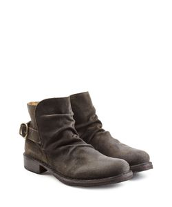 Fiorentini & Baker | Suede Buckle Back Ankle Boots Gr. Eu 40