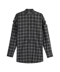 Helmut Lang   Wool Shirt With Cut-Out Detail On Sleeves Gr. S
