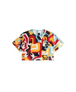 DSquared² | Printed Silk Cropped Top Gr. 40