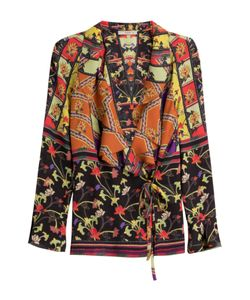 Etro   Printed Silk Blouse With Ruffles Gr. It 48