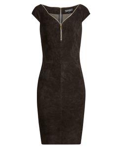 Jitrois | Suede Dress With Zipper Collar Gr. Fr 40