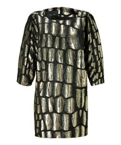 Jay Ahr | Gold And Black Brocade Dress Gr. S