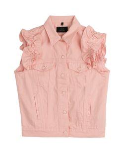 J Brand x Simone Rocha | Denim Vest With Frilled Sleeves Gr. S/M