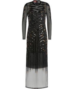 Tamara Mellon | Embellished Dress With Sheer Overlay Gr. S