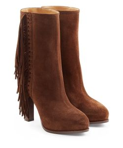 Ralph Lauren Collection | Fringed Ankle Boots Gr. It 37