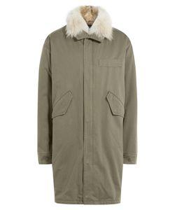 Yves Salomon | Cotton Parka With Fur Collar Gr. Eu 50