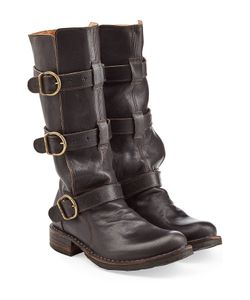 Fiorentini & Baker | Eternity 7040 Buckled Leather Boots Gr. It 36