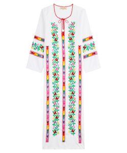 Muzungu Sisters | Embroidered Cotton Dress Gr. L
