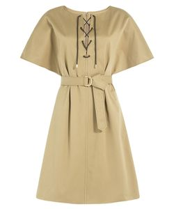 Vanessa Seward | Cotton Dress With Lace-Up Front Gr. Fr 40