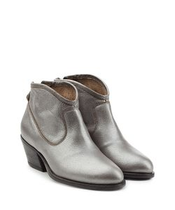 Fiorentini & Baker | Metallic Leather Ankle Boots Gr. It 36