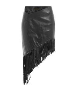 Alexandre Vauthier | Asymmetric Fringed Leather Skirt Gr. Fr 38