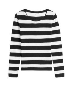 81 Hours by Dear Cashmere | Striped Cashmere Pullover Gr. L