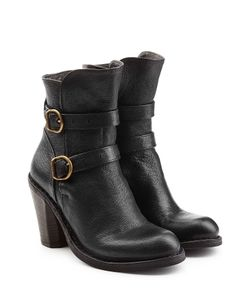 Fiorentini & Baker | Leather Double Strap Ankle Boots Gr. It 35