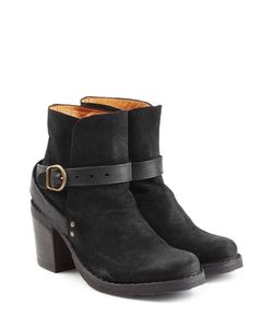 Fiorentini & Baker | Suede And Leather Buckle Strap Ankle Boots Gr. It 35