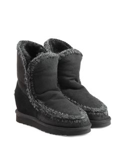 Mou | Eskimo Wedge Short Sheepskin Boots Gr. Eu 36
