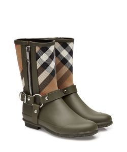 Burberry Shoes & Accessories | Rubber Rain Boots With Checked Fabric Gr. Eu 40