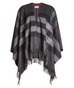 Burberry Shoes & Accessories | Checked Poncho With Cashmere And Merino Wool Gr. One Size