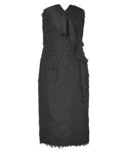 Viktor & Rolf | Strapless Silk Leaf Dress With Ruffle Gr. 34