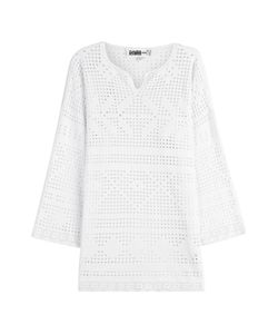 Claudia Schiffer for TSE   Cotton Tunic With Cut-Out Detail Gr. M