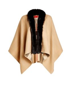 Burberry Shoes & Accessories | Merino Wool Cape With Fox Fur Gr. One Size