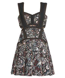 Self-Portrait | Jacquard Mini Dress With Cotton Gr. Uk 4