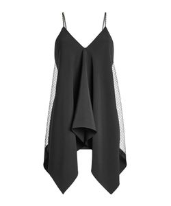 Roland Mouret | Crepe Top With Lace Gr. Uk 12
