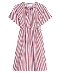 Victoria, Victoria Beckham | Striped Cotton Dress Gr. Uk 4