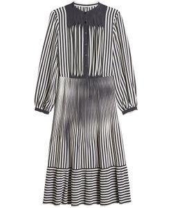 Marco de Vincenzo | Striped Silk Midi Dress Gr. It 40
