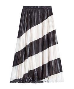 Marco de Vincenzo | Pleated Diagonal Stripe Midi Skirt Gr. It 40
