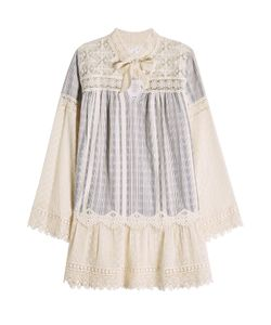 Anna Sui | Cotton Dress With Embroidery And Lace Gr. M