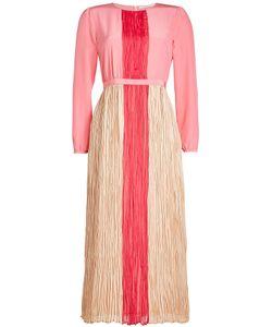 Agnona | Silk Dress With Pleated Detail Gr. It 42