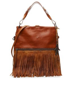 Henry Beguelin | Leather Tote With Suede Fringe Gr. One Size