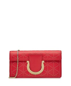 Salvatore Ferragamo   Embellished Leather Clutch Bag Gr. One Size