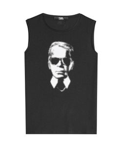Karl Lagerfeld | Printed Tank Top With Cotton Gr. S