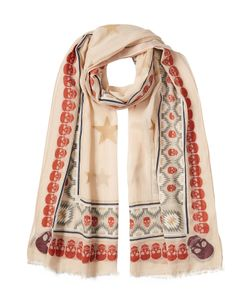Zadig & Voltaire   Printed Scarf With Cotton Gr. One Size