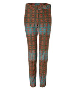 Sophie Theallet | Olive/Rust-Multi Belted Arabesque Silk-Cotton Pant Gr. 38