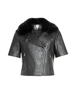 Shrimps | Perforated Jacket With Faux Fur Gr. Uk 10