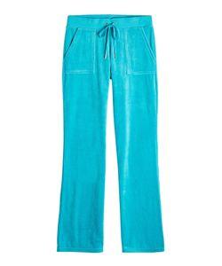 Juicy Couture | Straight Leg Velour Track Pants Gr. L