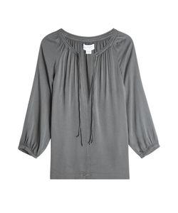 Velvet   Jersey Tie-Neck Blouse Gr. M