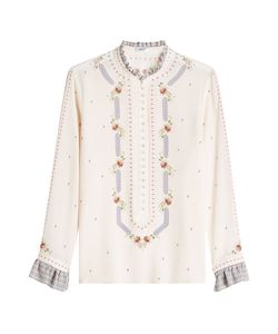 Vilshenko | Silk Blouse With Embroidery Gr. Uk 10