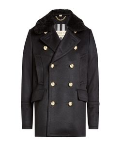 Burberry London | Wool Jacket With Shearling Collar Gr. Eu 46
